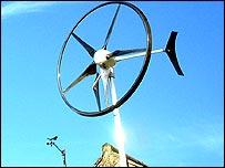 Mini wind turbine   BBC