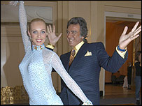 Dancer Camilla Dallerup and David Dickinson