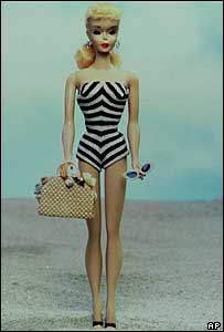 The original Barbie doll, released in 1959