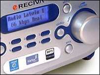 A close up of the Wireless Internet Radio