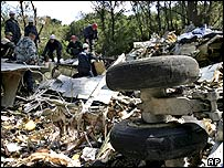 Plane wreckage near Rostov
