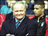 Ron Atkinson pitchside in 1999