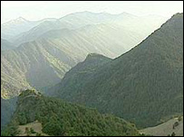 View of Russian border from Pankisi Gorge