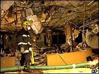 Wreckage of the Netanya bombing