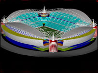 Artist impression of new Cardiff City stadium