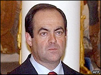 Spanish Defence Minister Jose Bono