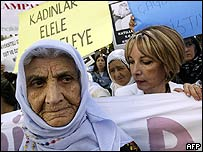 Women in Ankara protest against the proposed legislation