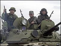 Georgian troops in S Ossetia