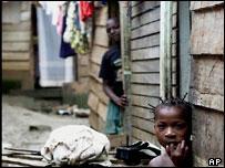 Slum in Malabo, Equatorial Guinea