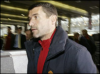 Roy Keane at Manchester Airport