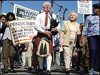 Recent pensions protest