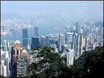 View from Hong Kong's Victoria Peak