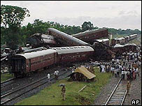 A rail disaster at Gaisal in India in 1999