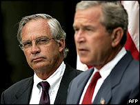 Porter Goss and George W Bush