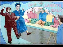 A mural in the shopping precinct reminds locals of the street's heyday