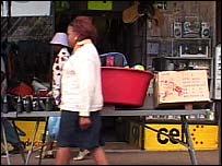 A street market in Johannesburg