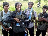 Tamil Tiger women soldiers