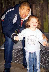 Tyrone Clarke and his four-year-old sister