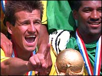 Dunga celebrates victory in 1994