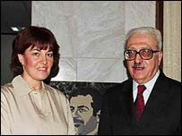 Jane Corbin and Tariq Aziz