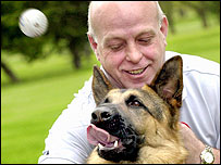 Mike Wardrop with pet Libby