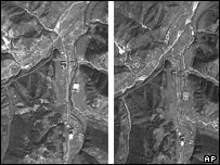 Images pictured on Sept. 26, 2000, left, and on Sept. 15, 2004