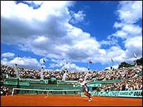 Centre court at Roland Garros