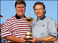 Ryder Cup captains Hal Sutton and Bernhard Langer
