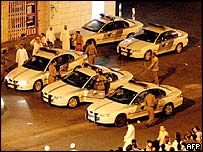 Saudi police carry out a raid in the city of Jeddah