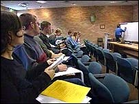 university lecture theatre