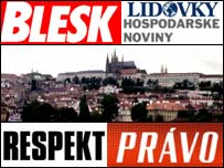 Czech press graphic