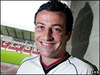 Clyde midfielder Jack Ross