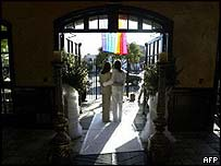 Lesbian couple in California