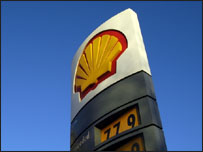 Shell garage UK