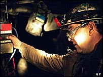 A miner at the La Houve coal mine