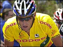 Lance Armstrong competes in the Tour of Georgia