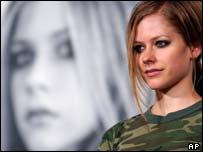 Pop singer Avril Lavigne, AP