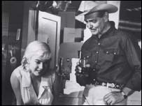 Clark Gable and Marilyn Monroe in a scene from The Misfits, Free
