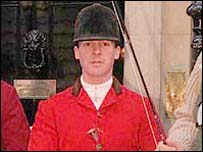John Holliday pictured in full riding gear