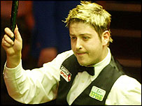 Matthew Stevens celebrates victory over Paul Hunter