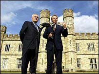 Bertie Ahern and Tony Blair outside Leeds Castle