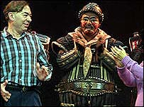 Lord Lloyd Webber with the Starlight Express cast