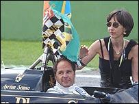 Gerhard Berger with Senna's sister Viviane