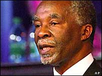 South African President Thabo Mbeki at the opening of the Pan-African parliament