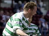 Aiden McGeady celebrates his debut goal