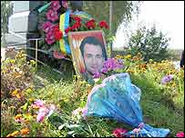 The Gongadze monument near the forest where his body was found