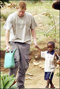 Prince Harry and orphan Mutsu Potsane