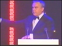 BBC news anchor Huw Edwards won the best onscreen presenter award