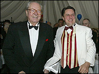 Jean-Marie Le Pen (l) with Nick Griffin