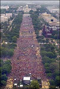 Marcha pro aborto en Washington